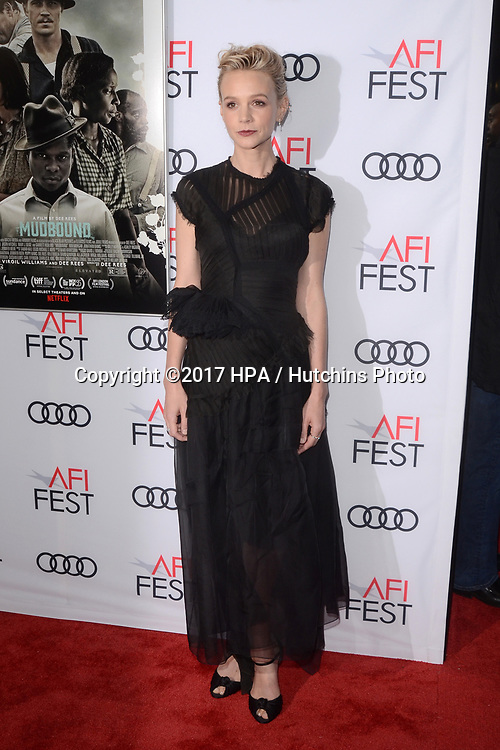"LOS ANGELES - NOV 9:  Carey Mulligan at the ""Mudbound"" Opening Gala of AFI Fest 2017 at the TCL Chinese Theater IMAX on November 9, 2017 in Los Angeles, CA"