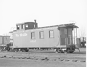 Long caboose #0517 in yard at Alamosa, CO.<br /> D&amp;RGW  Alamosa, CO  Taken by Richardson, Robert W. - 1950