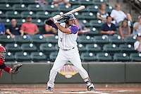 Nick Basto (21) of the Winston-Salem Dash at bat against the Potomac Nationals at BB&T Ballpark on July 15, 2016 in Winston-Salem, North Carolina.  The Dash defeated the Nationals 10-4.  (Brian Westerholt/Four Seam Images)
