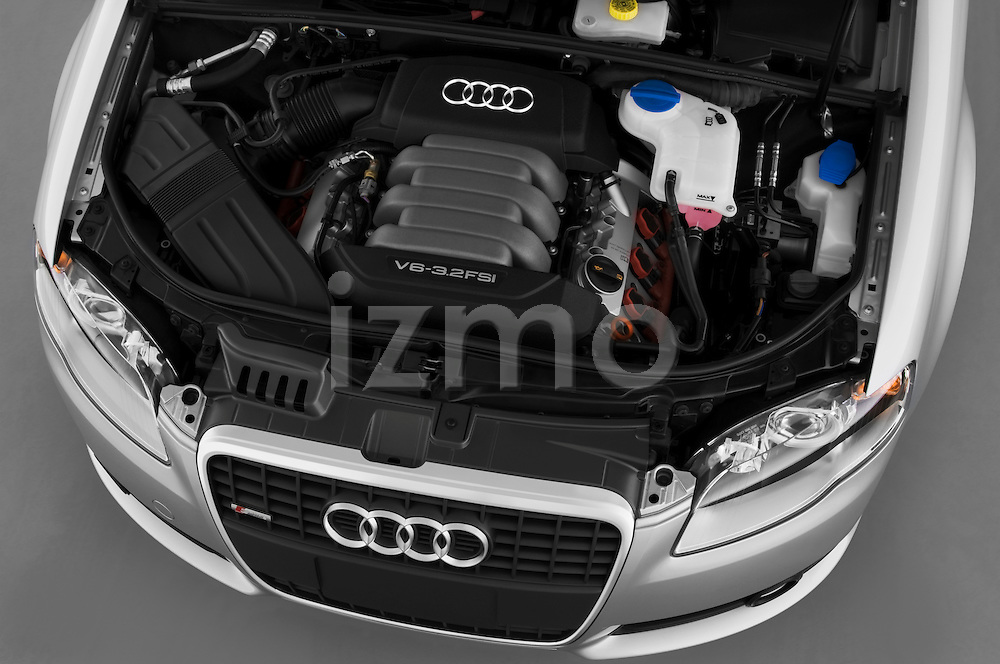 High angle engine detail of a 2005 - 2008 Audi A4 3.2 Sedan.