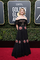 Alison Sudol arrives at the 75th Annual Golden Globes Awards at the Beverly Hilton in Beverly Hills, CA on Sunday, January 7, 2018.<br /> *Editorial Use Only*<br /> CAP/PLF/HFPA<br /> &copy;HFPA/Capital Pictures