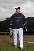 23 October 2010: Robin Roy, team manager of Rouen, is seen during Savigny 8-7 win (in 12 innings) over Rouen, during game 3 of the French championship finals, in Rouen, France.