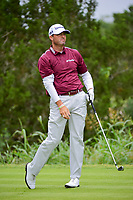 Ryan Palmer (USA) watches his tee shot on 7 during round 3 of the Valero Texas Open, AT&amp;T Oaks Course, TPC San Antonio, San Antonio, Texas, USA. 4/22/2017.<br /> Picture: Golffile | Ken Murray<br /> <br /> <br /> All photo usage must carry mandatory copyright credit (&copy; Golffile | Ken Murray)