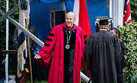 President Jonathan Veitch<br /> Families, friends, faculty, staff and distinguished guests celebrate the class of 2019 during Occidental College's 137th Commencement ceremony on Sunday, May 19, 2019 in the Remsen Bird Hillside Theater.<br /> <br /> (Photo by Allen Li, Occidental College class of 2020)
