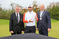 Oliver Wilson (ENG) winner of the Monaghan Irish Challenge, Concra Wood, Monaghan, Ireland. 7-10-2018.<br /> Picture Fran Caffrey / Golffile.ie<br /> <br /> All photo usage must carry mandatory copyright credit (&copy; Golffile | Fran Caffrey)