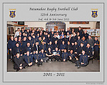 2001 to 2011 Patumahoe Rugby Club 125th Anniversary group photo, June 4th 2011.