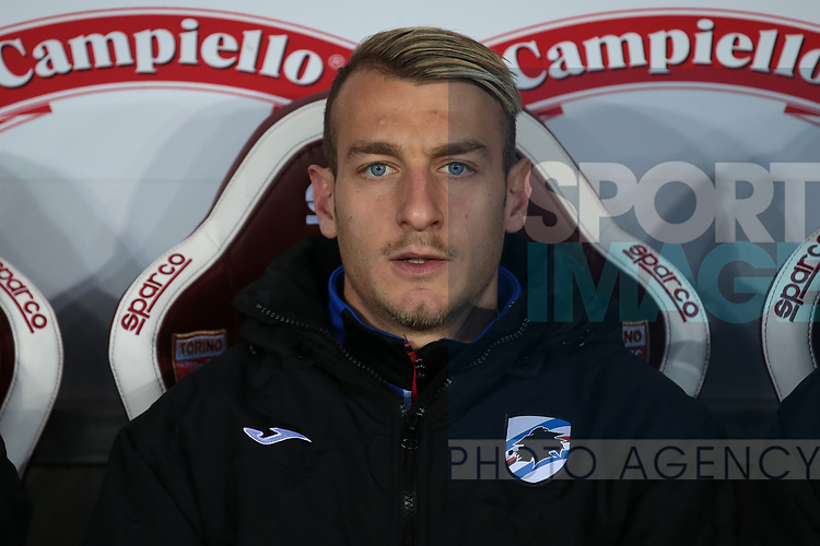 Antonino La Gumina of Sampdoria during the Serie A match at Stadio Grande Torino, Turin. Picture date: 8th February 2020. Picture credit should read: Jonathan Moscrop/Sportimage