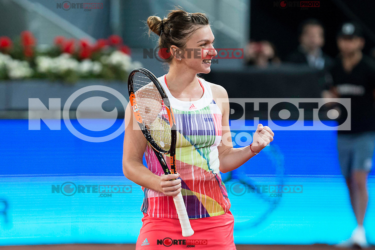 Romanian Simona Halep during Mutua Madrid Open Tennis 2016 in Madrid,  May 2, 2016. (ALTERPHOTOS/BorjaB.Hojas) /NortePhoto.com