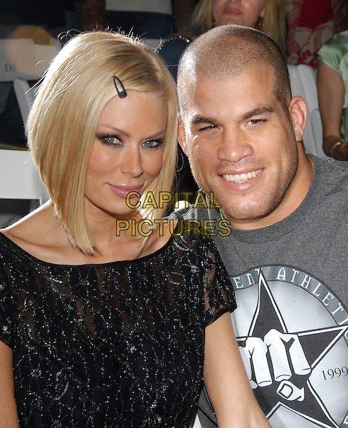 JENNA JAMESON & TITO ORTIZ.At The 2 B Free Fashion Show held at Boulevard3  in Hollywood, LA, California, USA, March 19 2007..portrait headshot hair clip black.CAP/DVS.©Debbie VanStory/Capital Pictures