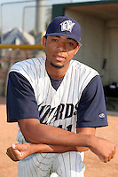 Fort Wayne Wizards Joel Santo poses for a photo before a Midwest League game at Memorial Stadium on July 17, 2006 in Fort Wayne, Indiana.  (Mike Janes/Four Seam Images)