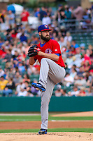 Buffalo Bisons pitcher Brandon Cumpton (51) delivers a pitch during an International League game against the Indianapolis Indians on July 28, 2018 at Victory Field in Indianapolis, Indiana. Indianapolis defeated Buffalo 6-4. (Brad Krause/Four Seam Images)