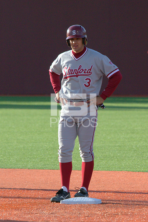 PULLMAN, WA-April 2, 2011:  Stanford shortstop Kenny Diekroeger in a game against Washington State University in Pullman, Washington.  Stanford won the game 22-3.