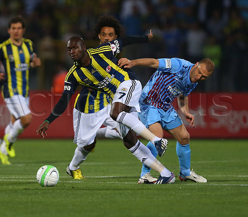 22.05.2013. Ankara, Turkey.  Turkish Cup Final Match between Fenerbahce   and Trabzonspor   in Ankara Turkey  The match finished Fenerbahce 1 Trabzonspor 0  Moussa Sow of Fenerbahce and Serkan Balci of Trabzonspor