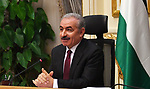 Palestinian Prime Minister Mohammad Ishtayeh, chairs expanded discussion session in Cairo, Egypt, on October 9, 2019. Photo by Prime Minister Office