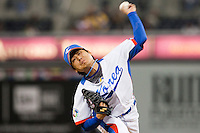 19 March 2009: #20 Seung Ho Lee of Korea pitches against Japan during the 2009 World Baseball Classic Pool 1 game 6 at Petco Park in San Diego, California, USA. Japan wins 6-2 over Korea.