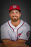 22 February 2019: Washington Nationals catcher Taylor Gushue poses for his Photo Day portrait at the Ballpark of the Palm Beaches in West Palm Beach, Florida. Mandatory Credit: Ed Wolfstein Photo *** RAW (NEF) Image File Available ***