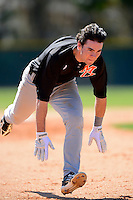 Mercer Bears infielder Chesny Young #4 during a game against the Notre Dame Fighting Irish at the Buck O'Neil Complex on February 17, 2013 in Sarasota, Florida.  Mercer defeated Notre Dame 5-4.  (Mike Janes/Four Seam Images)