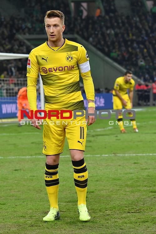 18.02.2018, Borussia Park, M&ouml;nchengladbach, GER, 1. FBL., Borussia M&ouml;nchengladbach vs. Borussia Dortmund<br /> <br /> im Bild / picture shows: <br /> Marco Reuss (Borussia Dortmund #11), <br /> <br /> Foto &copy; nordphoto / Meuter