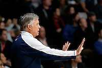July 12, 2016: MIKE MONTGOMERY coach of the PAC-12 all stars directs his players during game 1 of the Australian Boomers Farewell Series between the Australian Boomers and the American PAC-12 All-Stars at Hisense Arena in Melbourne, Australia. Sydney Low/AsteriskImages.com