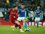 Andrew Robertson of Liverpool and Giovanni Di Lorenzo of Napoli  during the UEFA Champions League match at Anfield, Liverpool. Picture date: 27th November 2019. Picture credit should read: Andrew Yates/Sportimage
