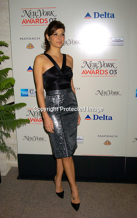 Marisa Tomei ..at the 2003 New York Magazine Awards on December 15, 2003 at the Four Seasons Restaurant . Photo by Robin Platzer, Twin Images
