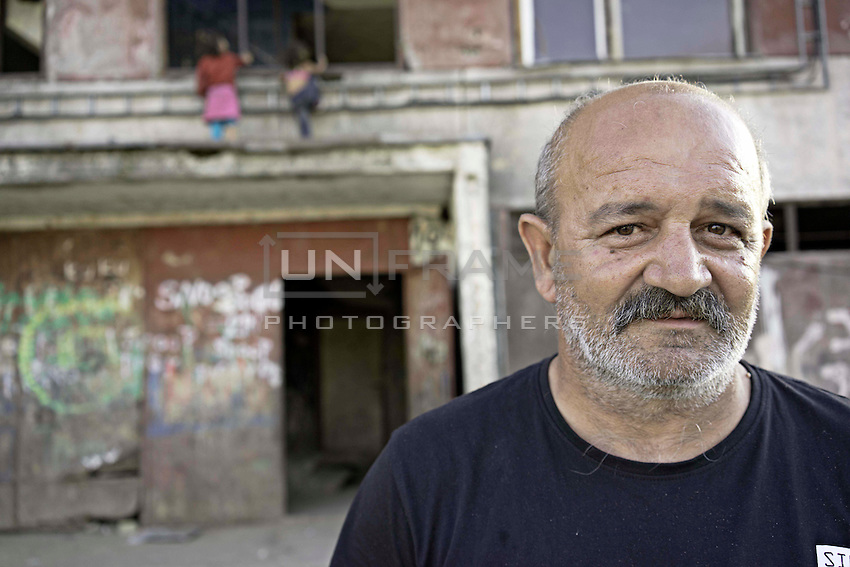 Lunik IX is now home to five thousand Roma, since 2011 the local government have demolished five blocks subsequently living Roma inhabitant now where to live. This Lido who has been in Lunik IX for 20 years, he works for US steal, with his low wages he can not afford to buy his own house, so if forced to live in Lunik IX paying a lower rent.