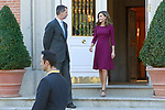 King Felipe VI of Spain and Queen Letizia of Spain receive Israeli President Reuven Rivlin for an official lunch at the Zarzuela Palace. November 6,2017. (ALTERPHOTOS/Acero)