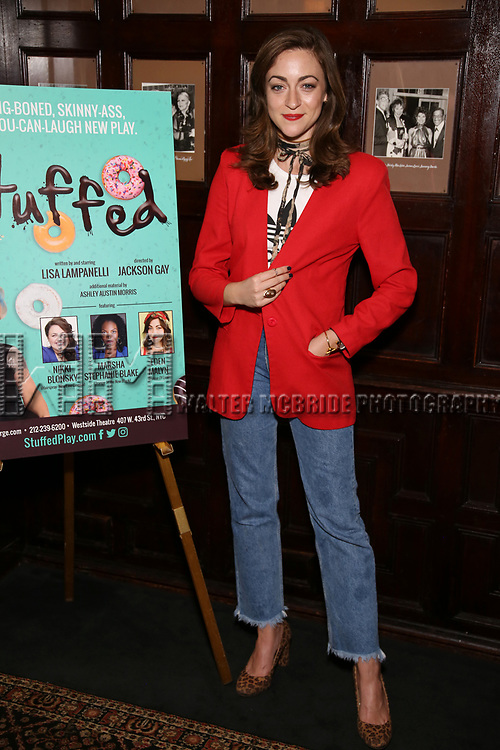 Eden Malyn attends the Off-Broadway cast photocell for Lisa Lampanelli's 'Stuffed' at the Friars Club on August 14, 2017 in New York City.
