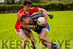 Brian Crowley(Kenmare District) & Brian Ó Beaglaoich (West Kerry) <br /> Kenmare District v West Kerry Round 1 County Senior Football Championship in Templenoe 22-09-2019