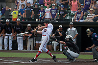 Jefferson City junior Payton Bodenstab knocks in the tying run in the bottom of the seventh-inning in the State Championship game.