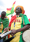22 June 2006: A Ghana fan. Ghana played the United States at the Frankenstadion in Nuremberg, Germany in match 42, a Group E first round game, of the 2006 FIFA World Cup.