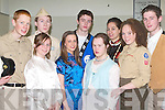 CAST: Main characters in the Mercy Mounthawk Secondary School forthcoming Musical South Pacific rehearsing on Saturday are front l-r: Katie O'Riordan, Caoimhe Garvey, Cathal Doyle and Julianne O'Leary. Back l-r: Fearghal Fitzgibbon, Conor Cleary, Brian O'Sullivan, Pearl Kennedy and Denis Horan.   Copyright Kerry's Eye 2008