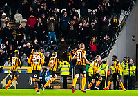 Hull City celebrate the opening goal during the Sky Bet Championship match between Hull City and Sheff United at the KC Stadium, Kingston upon Hull, England on 23 February 2018. Photo by Stephen Buckley / PRiME Media Images.