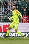 13.04.2019, Weserstadion, Bremen, GER, 1.FBL, Werder Bremen vs SC Freiburg<br /> <br /> DFL REGULATIONS PROHIBIT ANY USE OF PHOTOGRAPHS AS IMAGE SEQUENCES AND/OR QUASI-VIDEO.<br /> <br /> im Bild / picture shows<br /> Stefanos Kapino (Werder Bremen #27), <br /> <br /> Foto &copy; nordphoto / Ewert