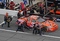 Feb 15, 2007; Daytona, FL, USA; Nascar Nextel Cup Series driver Jeff Burton (31) pits during race one of the Gatorade Duel at Daytona International Speedway. Mandatory Credit: Mark J. Rebilas