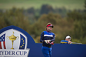 25.09.2014. Gleneagles, Auchterarder, Perthshire, Scotland.  The Ryder Cup.  Bubba Watson [USA] on the 18th during his practise round.