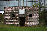 Glentoran 2 Cliftonville 1, 22/10/2016. The Oval, NIFL Premiership. The World War II bunker situated on the hill at the home end at The Oval, Belfast, pictured before Glentoran hosted city-rivals Cliftonville in an NIFL Premiership match. Glentoran, formed in 1892, have been based at The Oval since their formation and are historically one of Northern Ireland's 'big two' football clubs. They had an unprecendentally bad start to the 2016-17 league campaign, but came from behind to win this fixture 2-1, watched by a crowd of 1872. Photo by Colin McPherson.