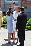 Princess Letizia of Spain receive Mexico´s President Enrique Pena Nieto and his wife Angelica Rivera at Zarzuela Palace in Madrid, Spain. June 09, 2013. (ALTERPHOTOS/Victor Blanco)