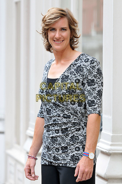 Katherine Grainger .Olympic athletes and Long Tall Sally ambassadors attend media day and photocall for fashion brand Long Tall Sally which makes clothes for taller women having launched the LTS Row collection with them, Long Tall Sally, London, England..August 20th, 2012.half length top black grey gray lace .CAP/BF.©Bob Fidgeon/Capital Pictures.
