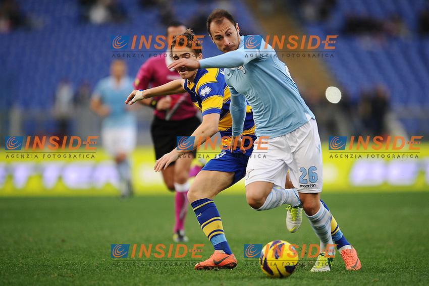 Stefan Radu Lazio.02/12/2012 Roma.Stadio Olimpico.Football Calcio 2012 / 2013 .Campionato di Calcio Serie A.Lazio vs Parma 2-1.Foto Insidefoto / Antonietta Baldassarre.