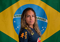 Kansas City, KS - July 24, 2018: Brazil Flag Portraits