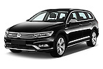 2016 Volkswagen Passat Alltrack 5 Door Wagon Angular Front stock photos of front three quarter view