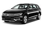 2016 Volkswagen Passat Alltrack 5 Door Wagon Angular Front stock photos of front three quarter view
