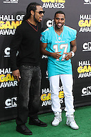 SANTA MONICA, CA, USA - FEBRUARY 15: Richard Sherman, Jason Derulo at the 4th Annual Cartoon Network Hall Of Game Awards held at Barker Hangar on February 15, 2014 in Santa Monica, California, United States. (Photo by David Acosta/Celebrity Monitor)