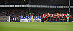 Minutes silence before the Premier League match at Goodison Park, Liverpool. Picture date: December 4th, 2016.Photo credit should read: Lynne Cameron/Sportimage