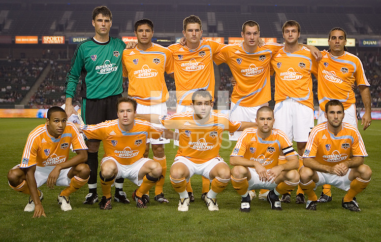 Houston Dynamo starting eleven. The Houston Dynamo and Chivas USA played to a 1-1 tie at Home Depot Center stadium in Carson, California on Saturday October 25, 2008. Photo by Michael Janosz/isiphotos.com