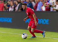 WASHINGTON, DC - OCTOBER 11: Paul Arriola #7 of the United States dribbles during a game between Cuba and USMNT at Audi Field on October 11, 2019 in Washington, DC.