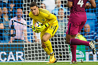 Ederson In action  during the EPL - Premier League match between Brighton and Hove Albion and Manchester City at the American Express Community Stadium, Brighton and Hove, England on 12 August 2017. Photo by Edward Thomas / PRiME Media Images.