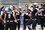 Western Nevada's Briauna Carter, right, celebrates with teammates after hitting a solo home run against the College of Southern Idaho at the Edmonds Sports Complex in Carson City, Nev., on Friday, April 8, 2016. <br />