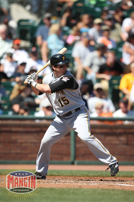 SAN FRANCISCO - SEPTEMBER 7:  Andy LaRoche of the Pittsburgh Pirates bats during the game against the San Francisco Giants at AT&T Park in San Francisco, California on September 7, 2008.  The Giants defeated the Pirates 11-6.  Photo by Brad Mangin